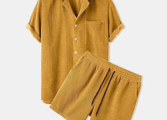 Lapel Button Shirt & Short