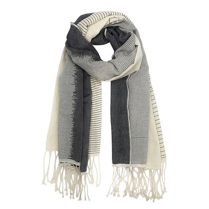Striped Organic Cotton Scarf
