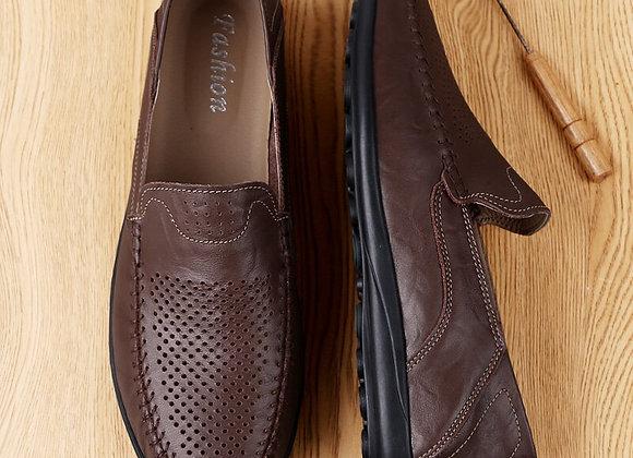 Genuine Leather Moccasins Slips