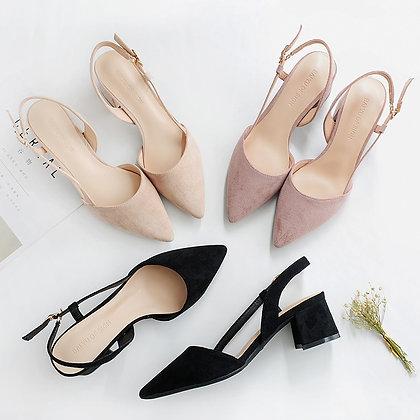 Square High Heels Women Shoes