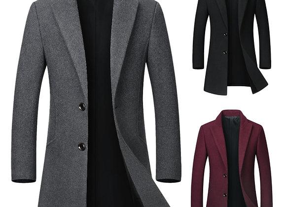 Classic Men's Wool Overcoat