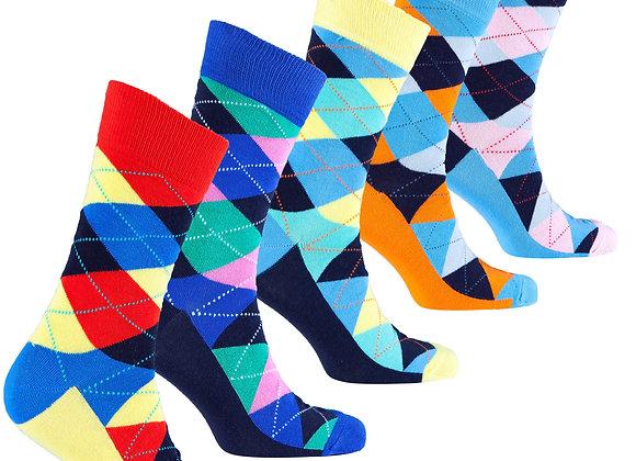 Men's Pastel Argyle Socks
