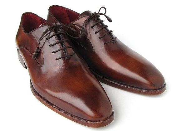 Plain Toe Brown Calfskin Oxfords