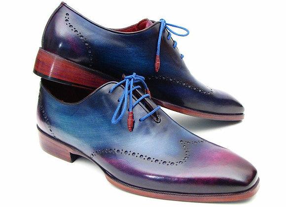 Purple Wingtip Oxfords
