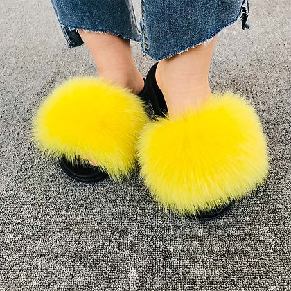 Ladies Fur Slipper
