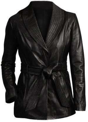 Black Women Fashion Leather Jacket