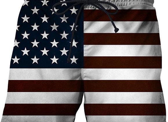 USA Flag Beach Shorts