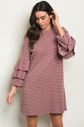 Mauve Stripes Dress