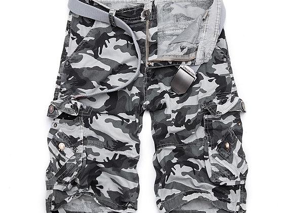 Camouflage Loose Cargo Shorts