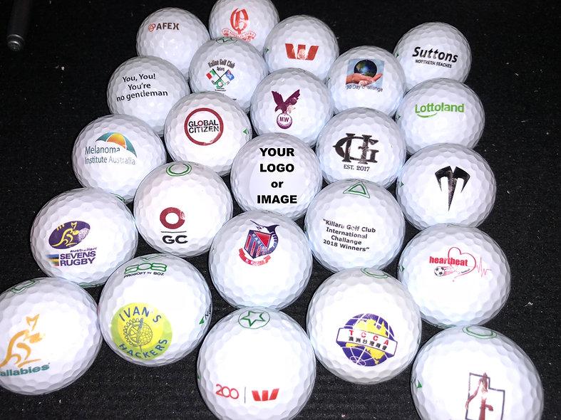 Custom Printed Golf Balls, cost per 12 prints. Balls Extra