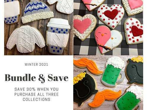 Bundle and Save - (Cozy Cable Knit, Hearts, & Shenanigans  Included)