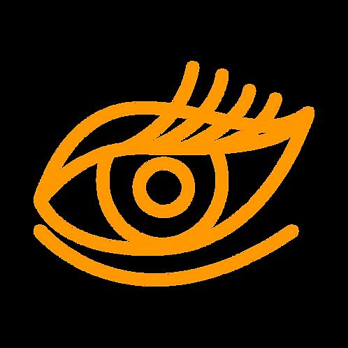 Augenbrauen färbenwährend der Kosmetikbehandlung