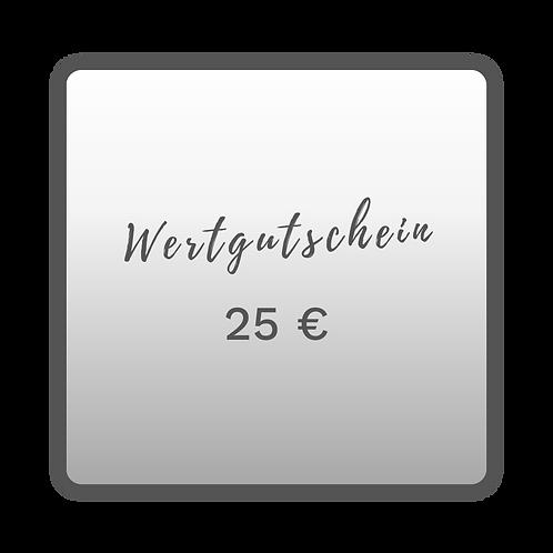 Wertgutschein 25,00€