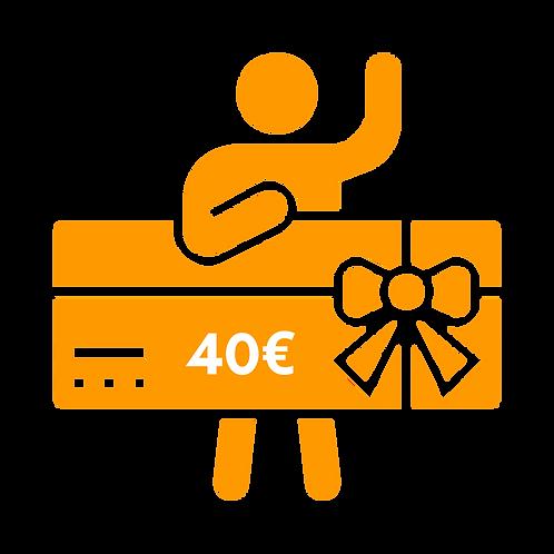 Wertgutschein 40,00€