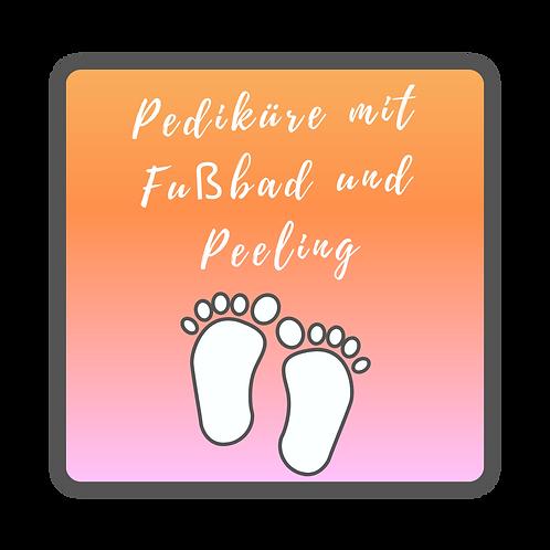 Pediküre mit Fußbad und Peeling