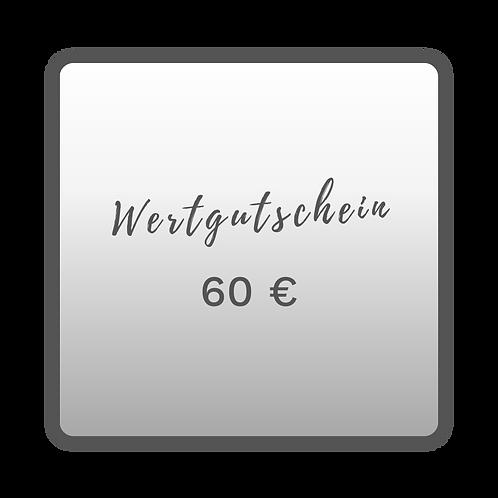 Wertgutschein 60,00€