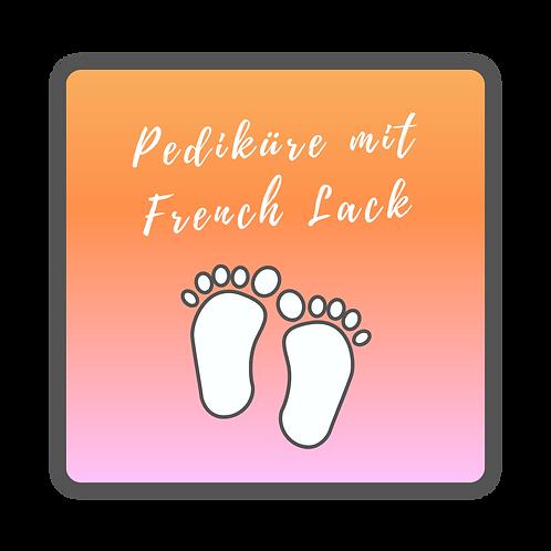 Pediküre mit French Lack