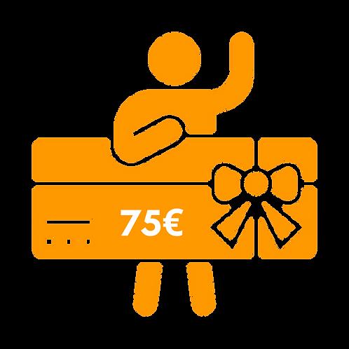 Wertgutschein 75,00€