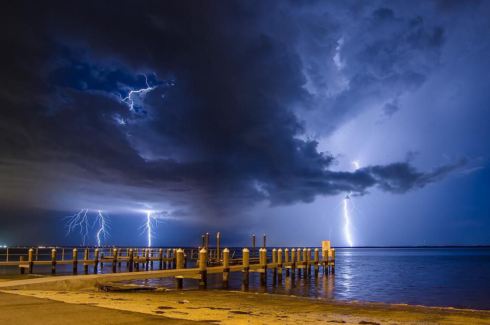 Lighting over the Tampa Bay
