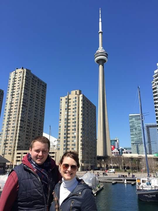 Sarah and her husband enjoying the beautiful Toronto skyline