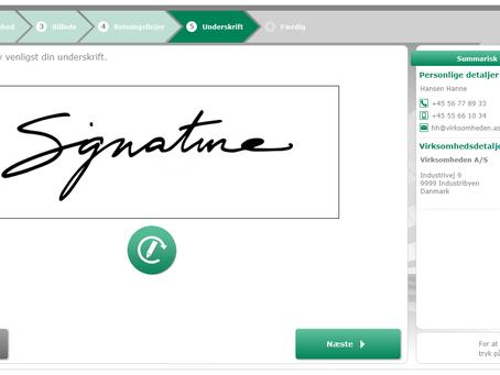 Lad dine gæster sætte deres underskrift elektronisk