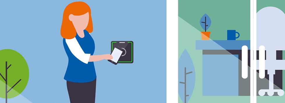 Smartphone app til adgangskontrol. Åben dør lås dør med app - Real Data A/S