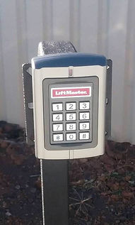 key pad, pin access, controlled access