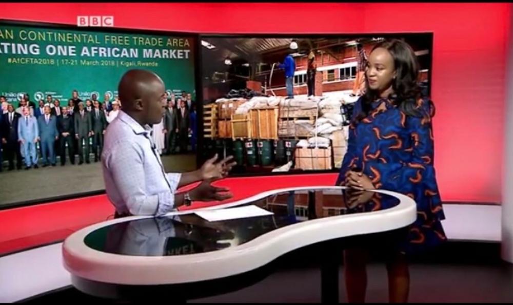 Kagure being interviewed on BBC