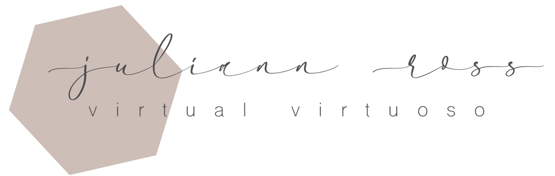 Juliann Ross Virtual Assistant   Long Form Logo