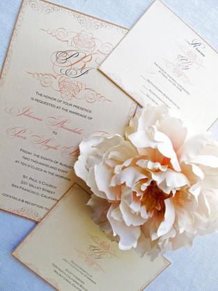 Wedding Invitation Suite for Magazine Photo Shoot