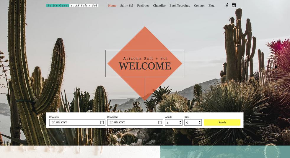 AZ Salt + Sol   Desktop Website