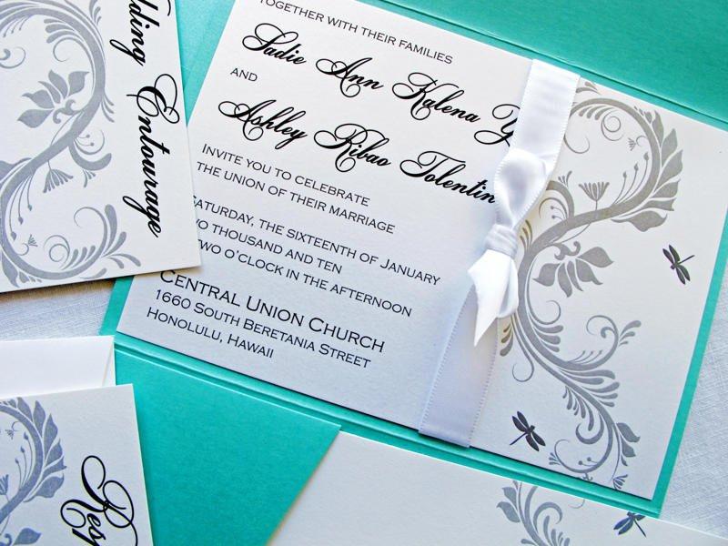 Dragonfly Wedding Invite