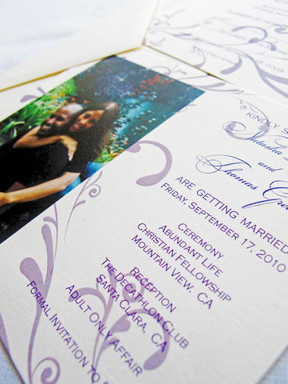 Green Wedding Save the Date