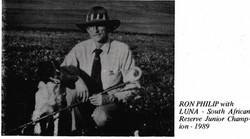 Ron Philip with Luna Reserve Junior Champion 1989