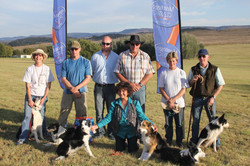 3 Winners at Wits Irene Mark sponsor Andries judge Kim Sue Andrew Elsie Pippa not in pic