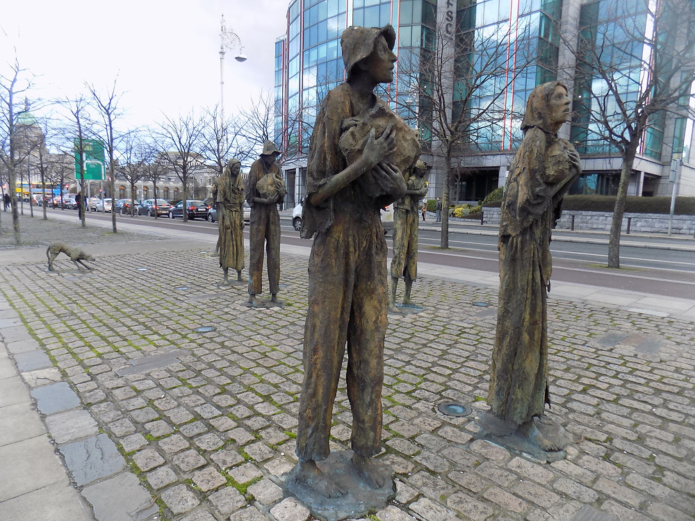 Famine Memorial Custom House Quay