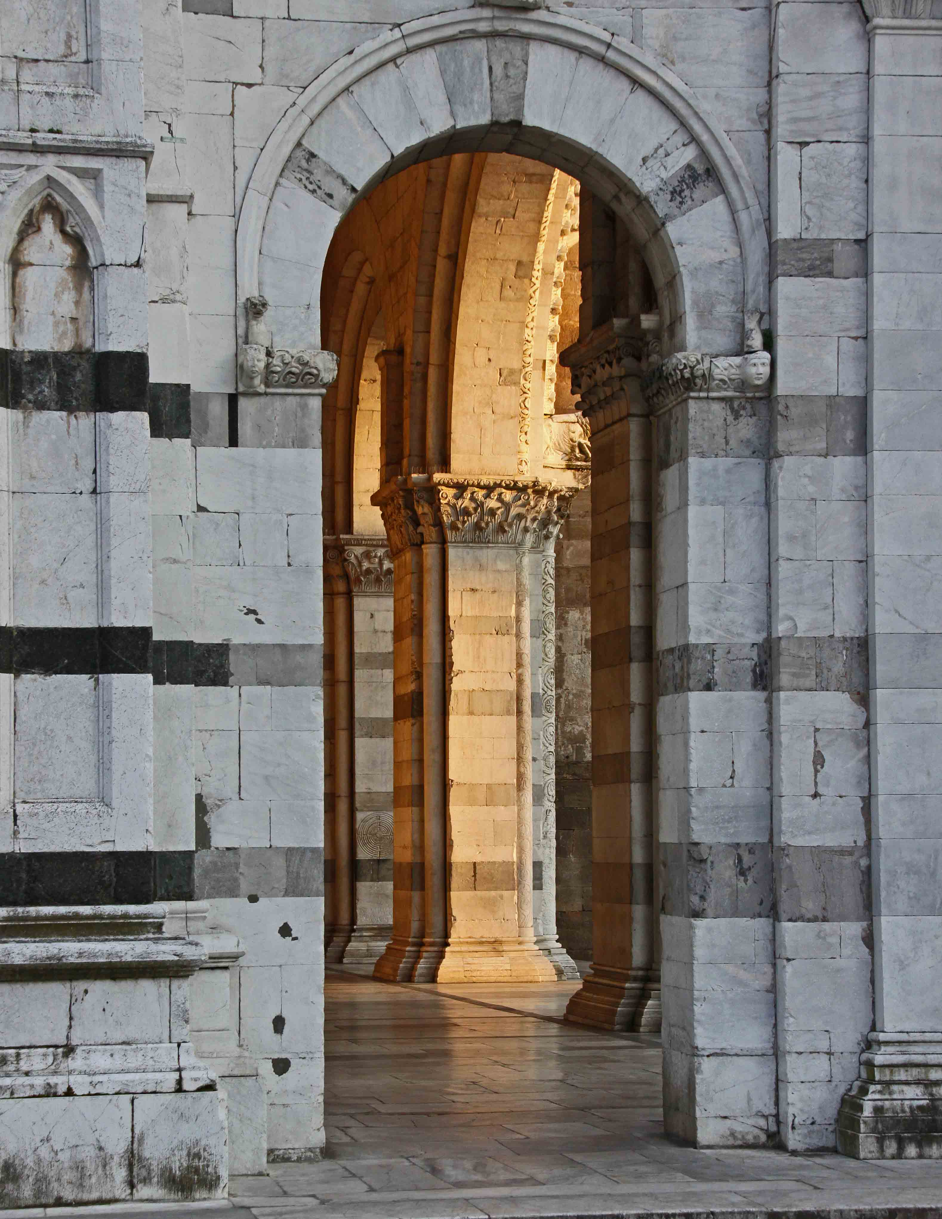 Sunset on the Church Arch - Luca, Italy