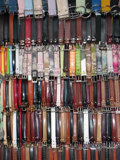 Belt Vendor - Florence, Italy