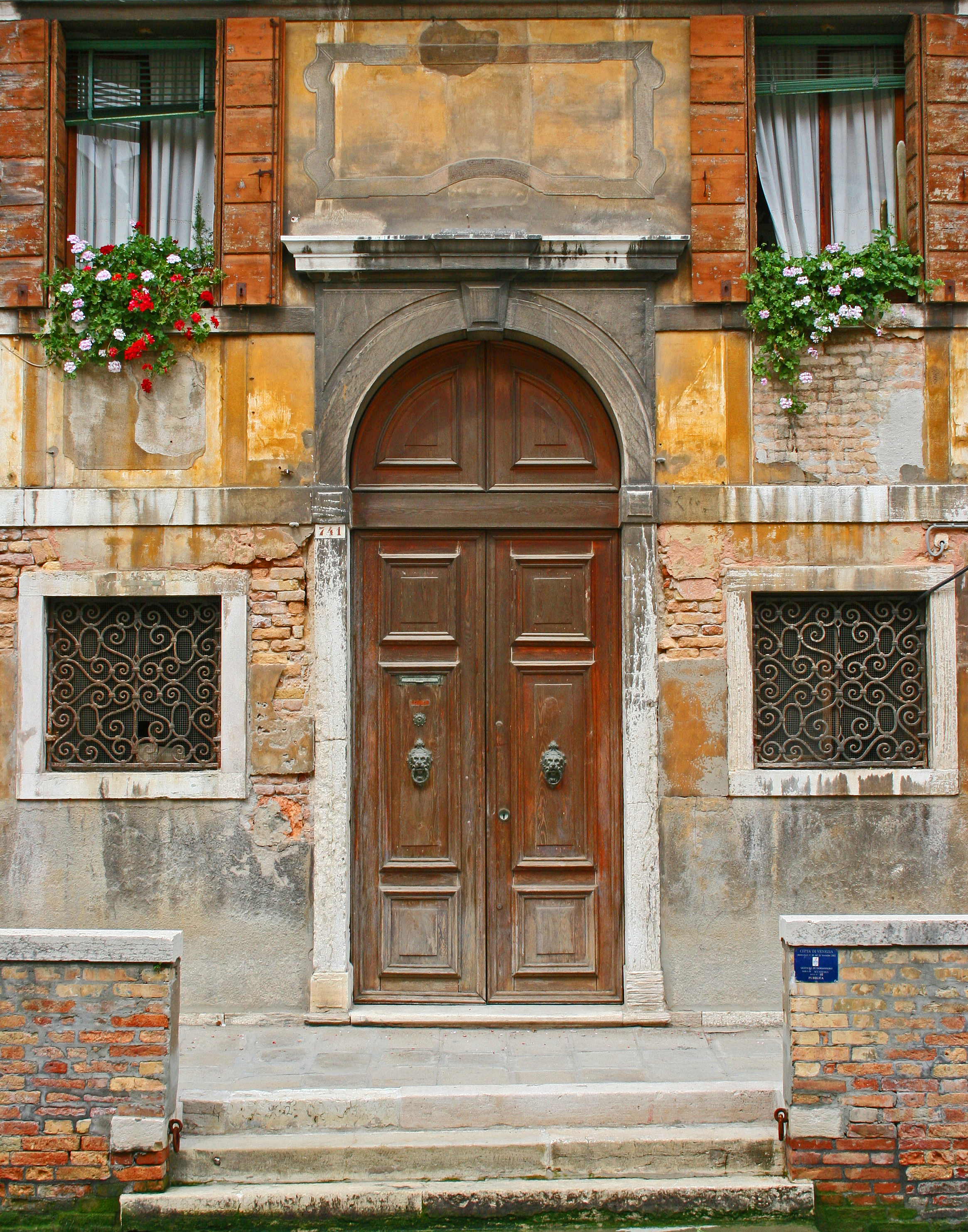 Doorway Along the Canal - Venice, Italy