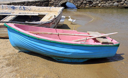 Boats on the Shore - Mykonos, Greece