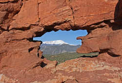 Pikes Peak from the Siamese Twins - Colorado Springs