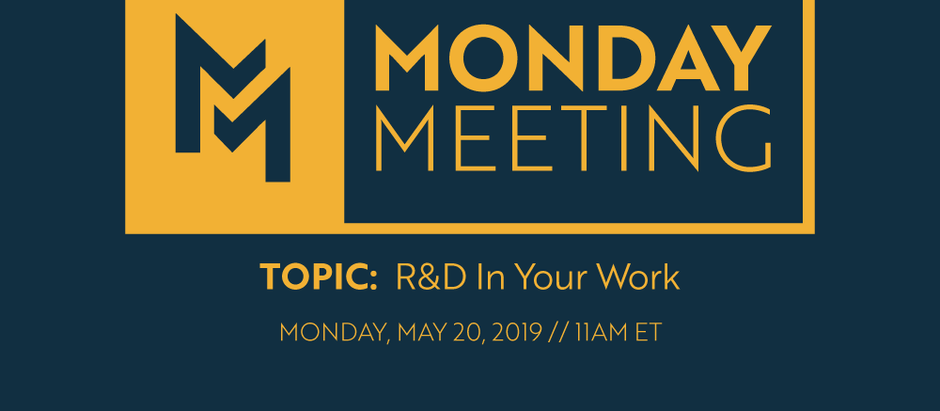 May 20th, 2019 | R&D In Your Work