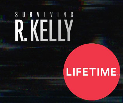 Text: Surviving R. Kelly with Lifetime TV logo