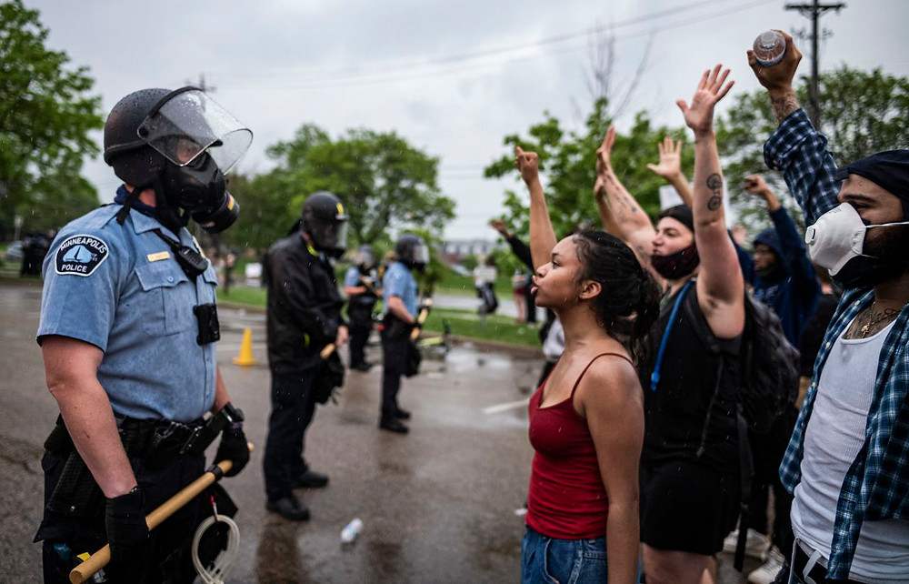 Photo of protests in Minneapolist | Photo by RICHARD TSONG-TAATARII/ASSOCIATED PRESS