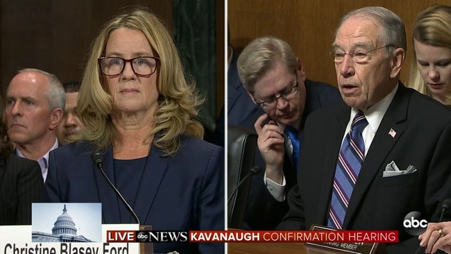 Dr. Blasey Ford and Sen. Chuck Grassley