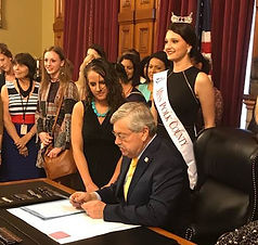 Gov. Branstad signed the Sexual Assault Civil Protective Order in May 2017.