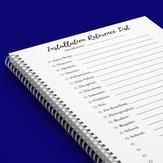 Installation Reference List 2021 Calendar Year Planner