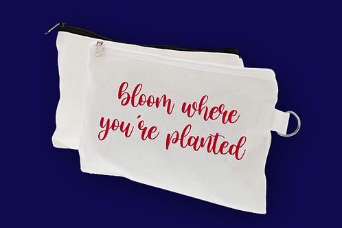White Bloom Pencil Pouch