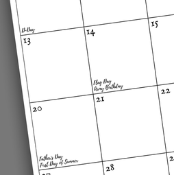 Military Specific Dates 2021 Calendar Year Planner