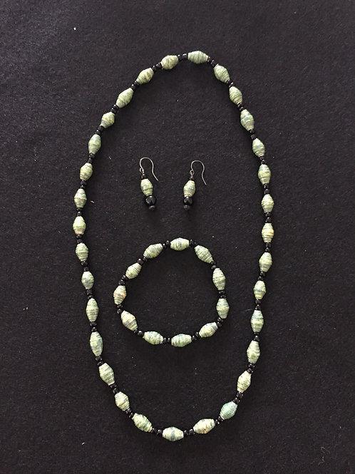 Necklace, bracelet and ear ring set